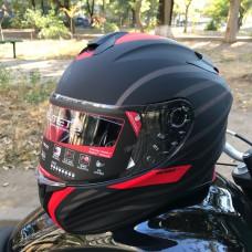 MT Helmets TARGO Doppler black red MATT