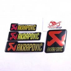 Наклейка на глушитель: Akrapovic 3D