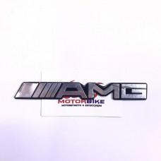 Наклейка AMG (15x2см, алюминий)