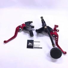 Комплект сцепления и тормоза с регулируемыми ручками RED