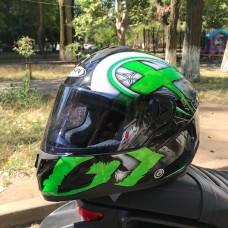 Шлем FXW HF-122 Black-Green