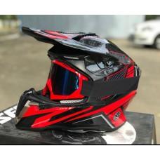 Шлем HD HF-806 красный глянец