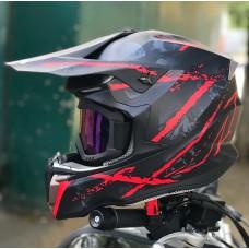 Шлем HD HF-806 череп мат