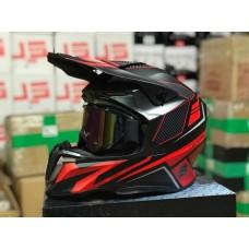 Шлем HD HF-806 красный мат