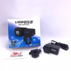 Зарядное USB порт + вольтметр Mod2